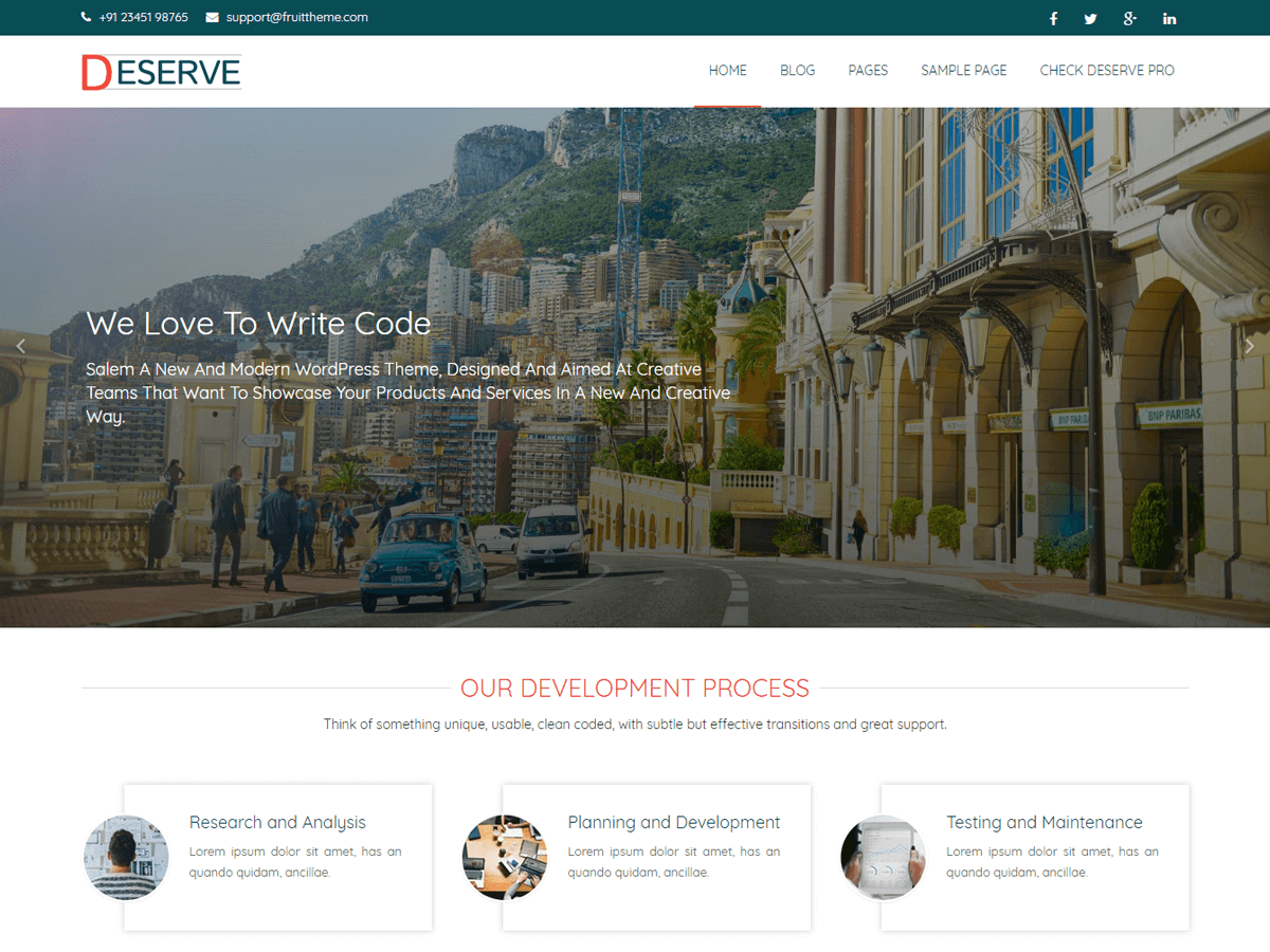 Deserve Preview Wordpress Theme - Rating, Reviews, Preview, Demo & Download