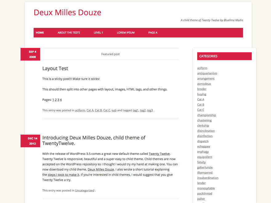 Deux Milles Preview Wordpress Theme - Rating, Reviews, Preview, Demo & Download
