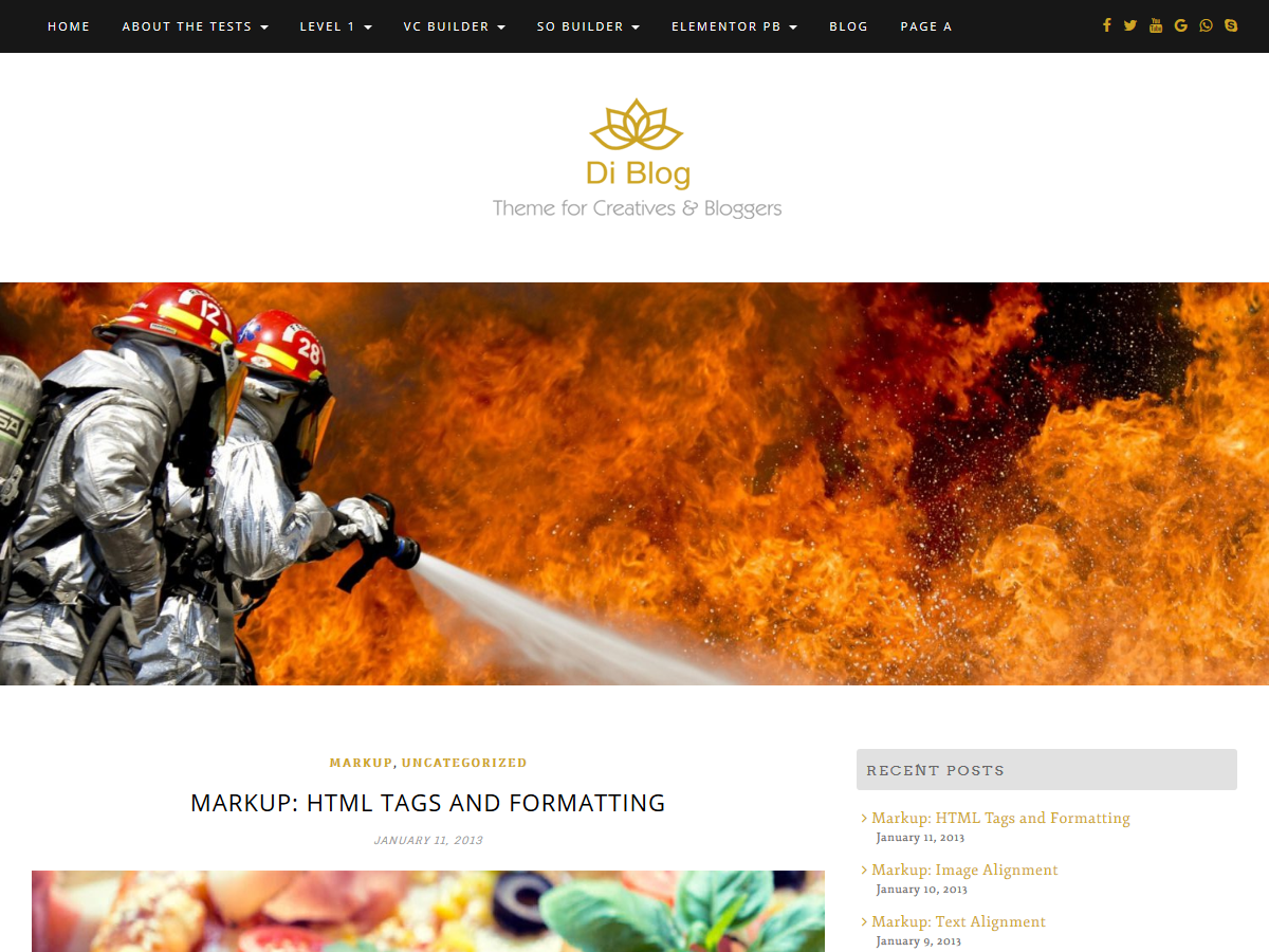 Di Blog Preview Wordpress Theme - Rating, Reviews, Preview, Demo & Download