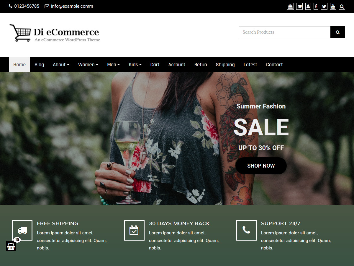 Di ECommerce Preview Wordpress Theme - Rating, Reviews, Preview, Demo & Download