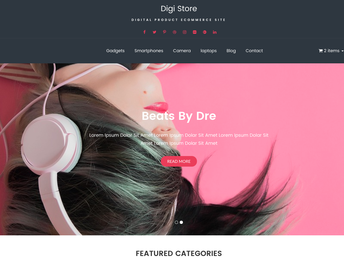 Digi Store Preview Wordpress Theme - Rating, Reviews, Preview, Demo & Download