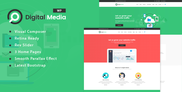 Digital Media Preview Wordpress Theme - Rating, Reviews, Preview, Demo & Download