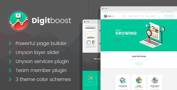 DigitBoost Preview Wordpress Theme - Rating, Reviews, Preview, Demo & Download