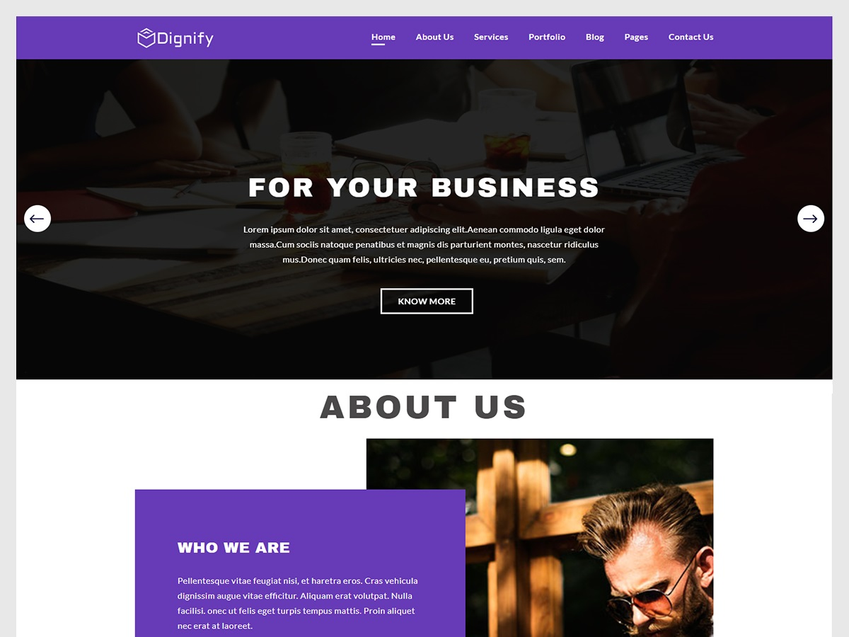 Dignify Preview Wordpress Theme - Rating, Reviews, Preview, Demo & Download
