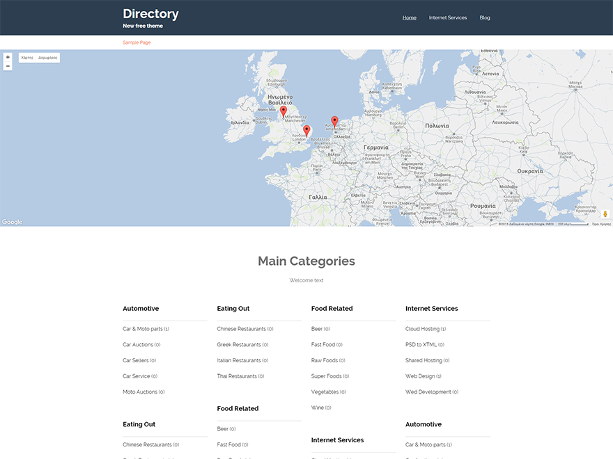 Directory Preview Wordpress Theme - Rating, Reviews, Preview, Demo & Download