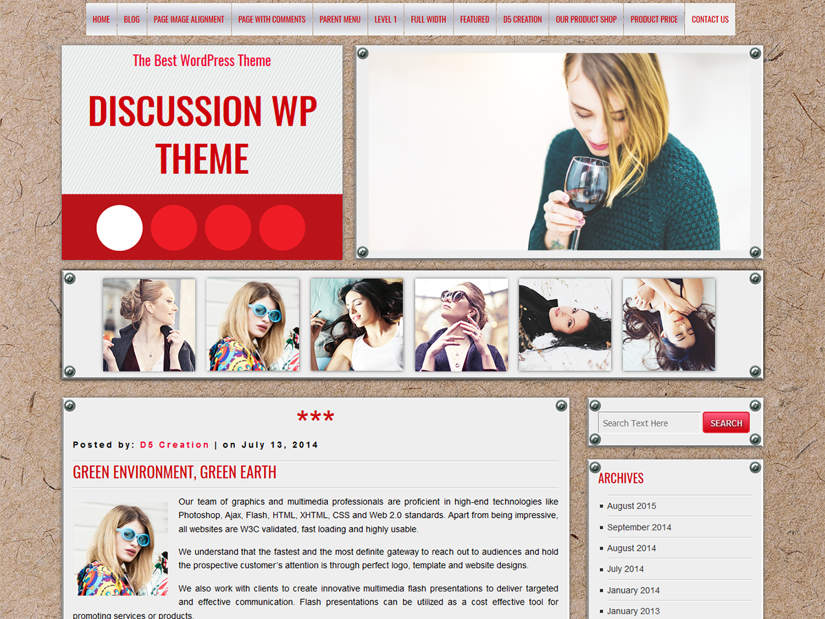 DISCUSSION Preview Wordpress Theme - Rating, Reviews, Preview, Demo & Download