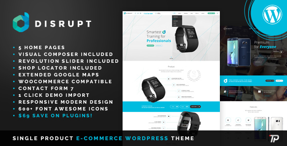 Disrupt Preview Wordpress Theme - Rating, Reviews, Preview, Demo & Download