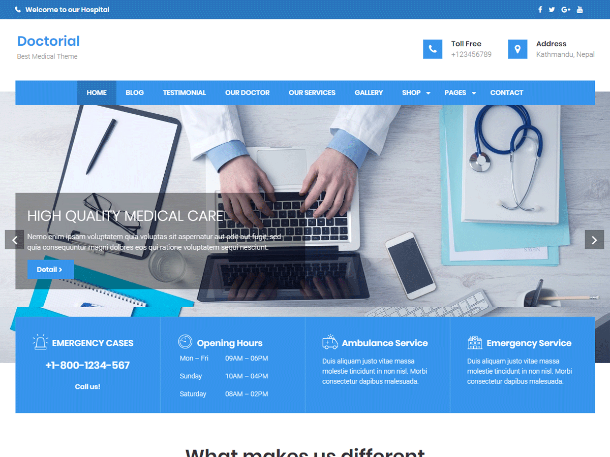 Doctorial Preview Wordpress Theme - Rating, Reviews, Preview, Demo & Download