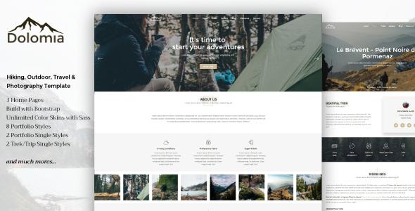 Dolomia Preview Wordpress Theme - Rating, Reviews, Preview, Demo & Download