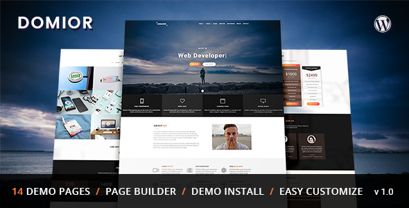 Domior Preview Wordpress Theme - Rating, Reviews, Preview, Demo & Download