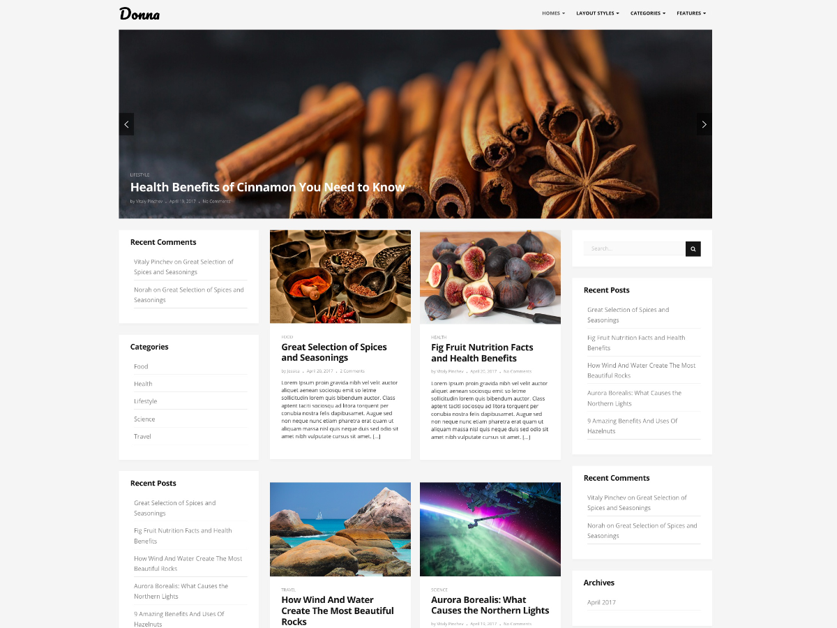 Donna Preview Wordpress Theme - Rating, Reviews, Preview, Demo & Download