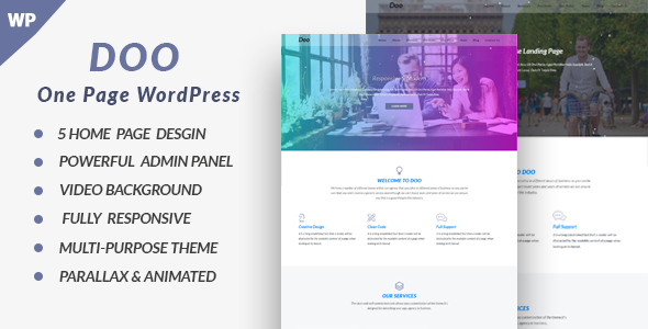 Doo Preview Wordpress Theme - Rating, Reviews, Preview, Demo & Download