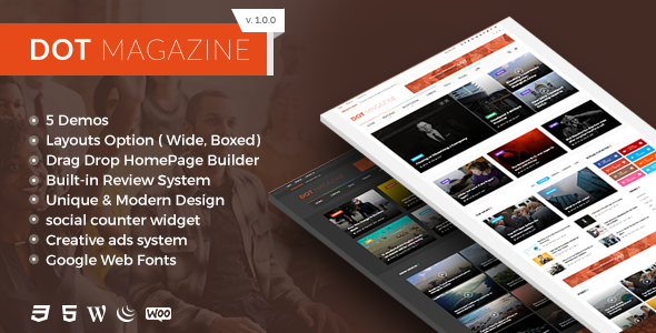Dots Magazine Preview Wordpress Theme - Rating, Reviews, Preview, Demo & Download