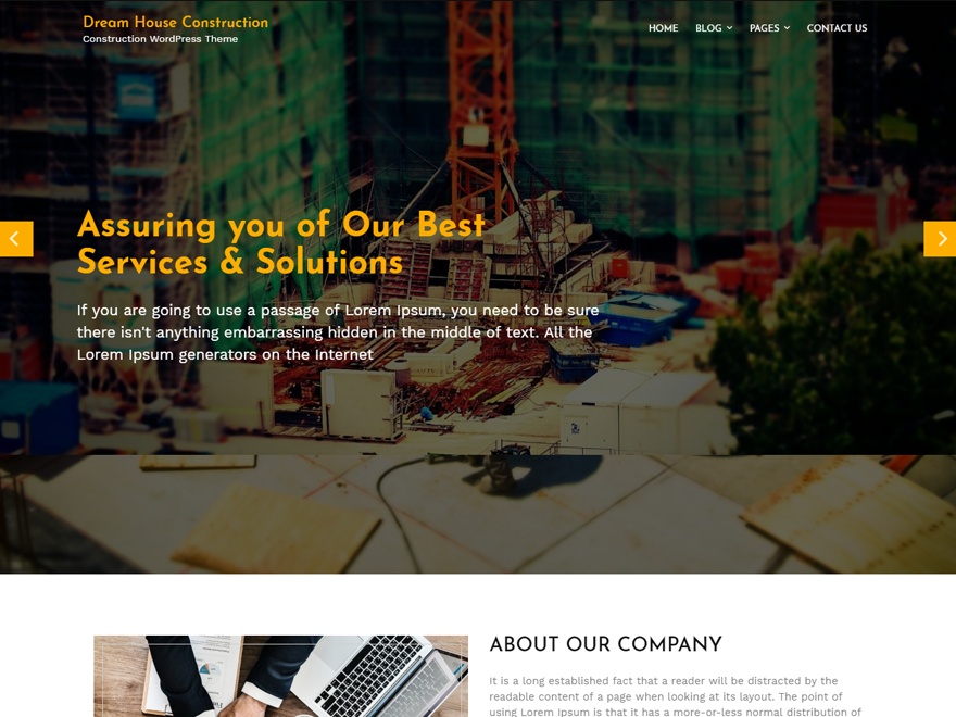 Dream House Preview Wordpress Theme - Rating, Reviews, Preview, Demo & Download