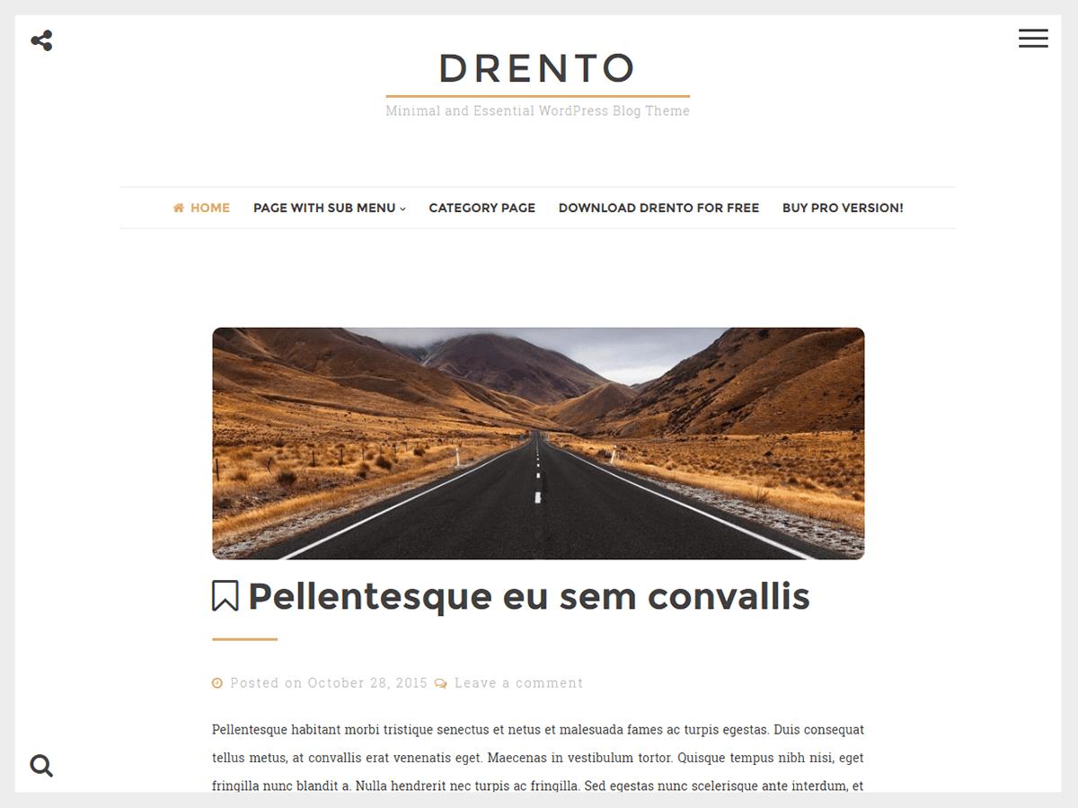 Drento Preview Wordpress Theme - Rating, Reviews, Preview, Demo & Download