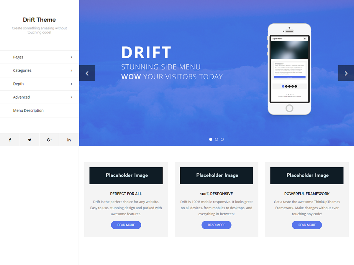 Drift Preview Wordpress Theme - Rating, Reviews, Preview, Demo & Download