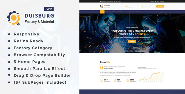 Duisburg Preview Wordpress Theme - Rating, Reviews, Preview, Demo & Download