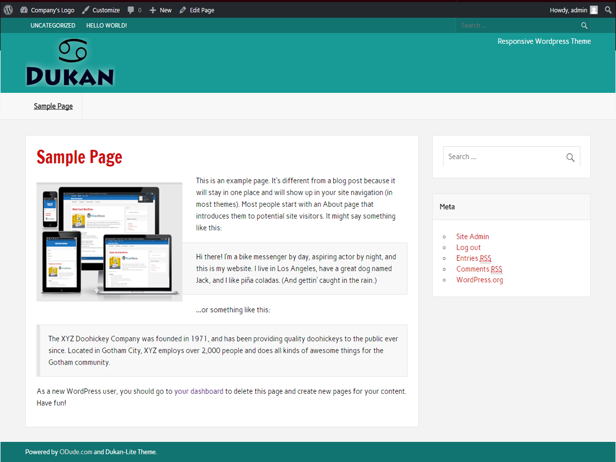 Dukan Lite Preview Wordpress Theme - Rating, Reviews, Preview, Demo & Download