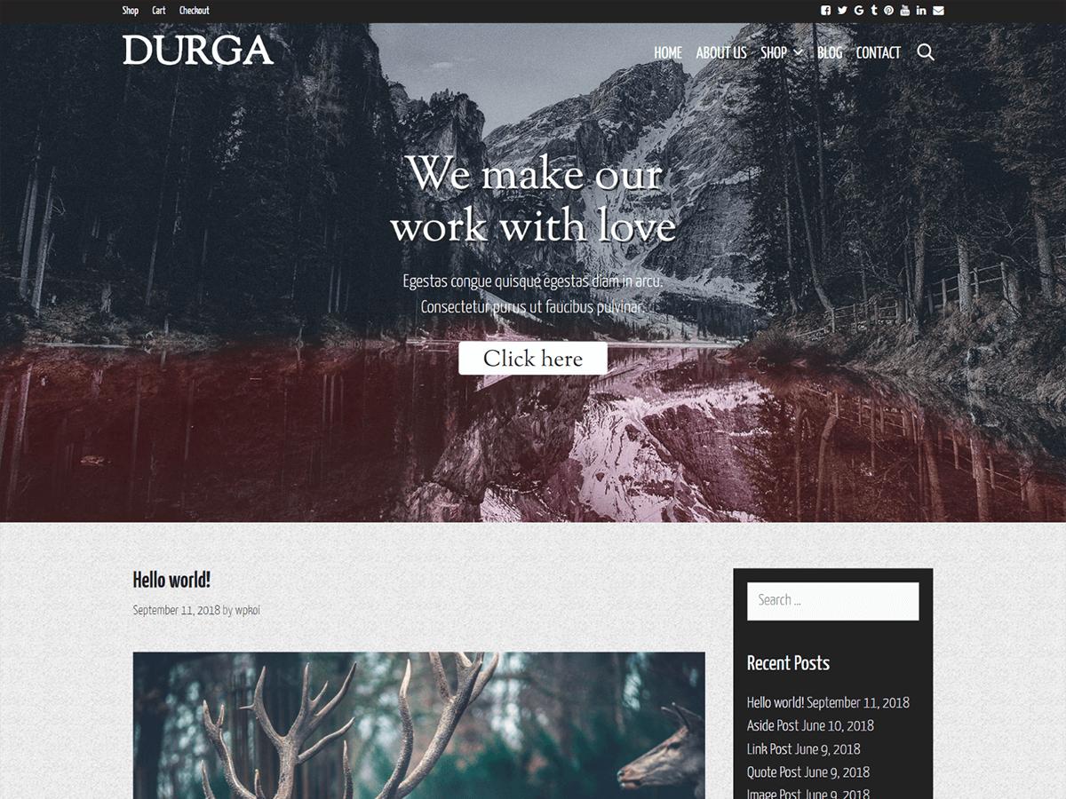 Durga Preview Wordpress Theme - Rating, Reviews, Preview, Demo & Download