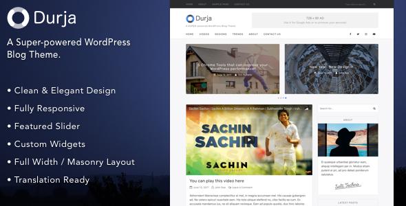 Durja Preview Wordpress Theme - Rating, Reviews, Preview, Demo & Download