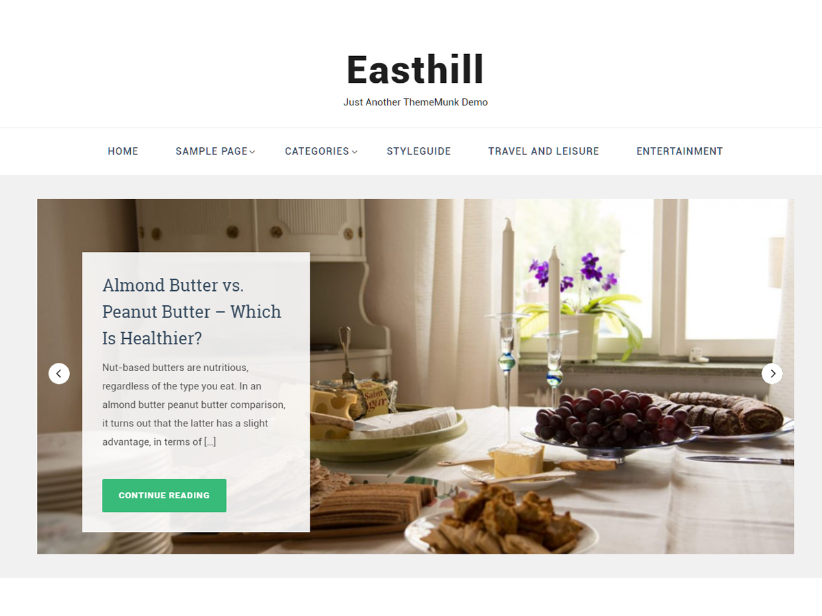 Easthill Preview Wordpress Theme - Rating, Reviews, Preview, Demo & Download