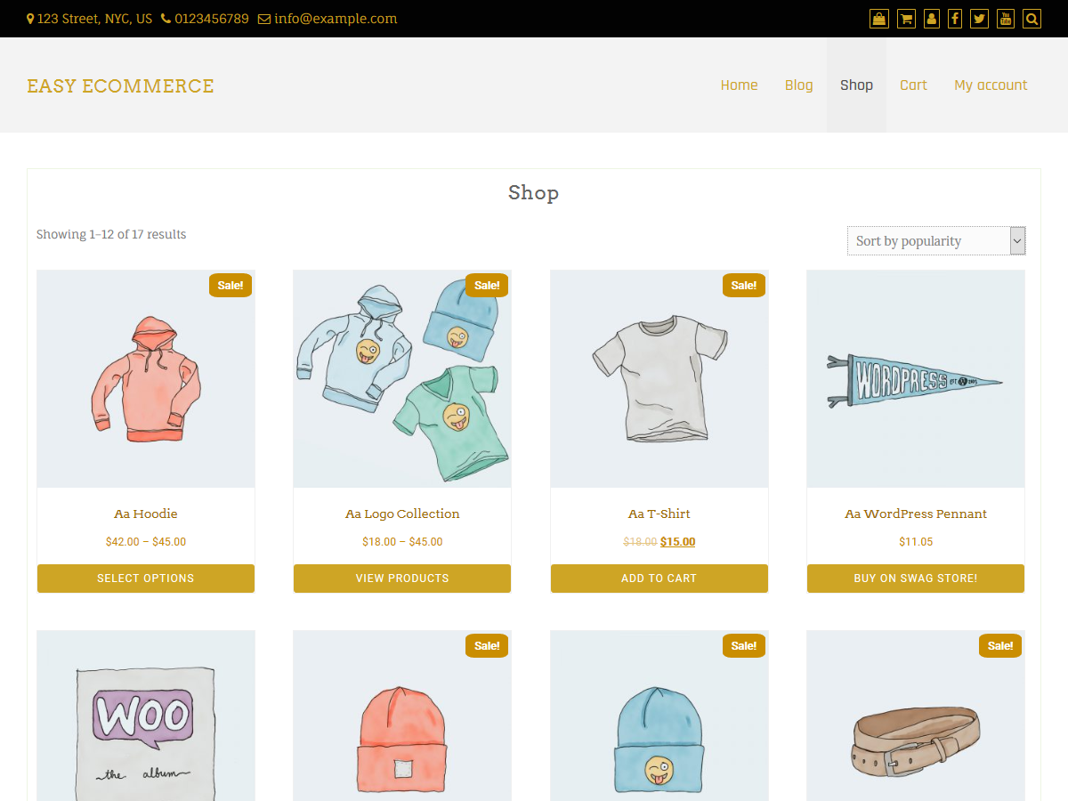 Easy ECommerce Preview Wordpress Theme - Rating, Reviews, Preview, Demo & Download