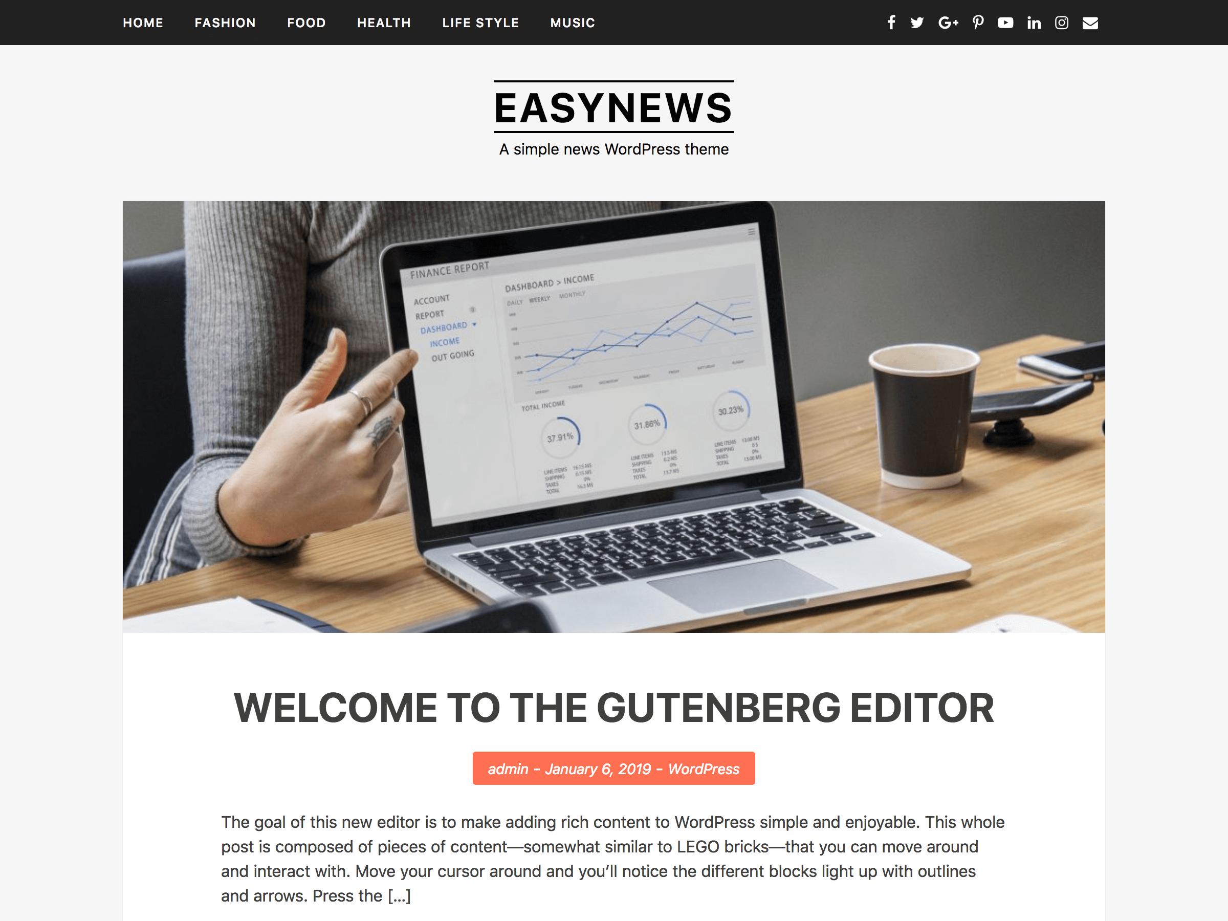 EasyNews Preview Wordpress Theme - Rating, Reviews, Preview, Demo & Download