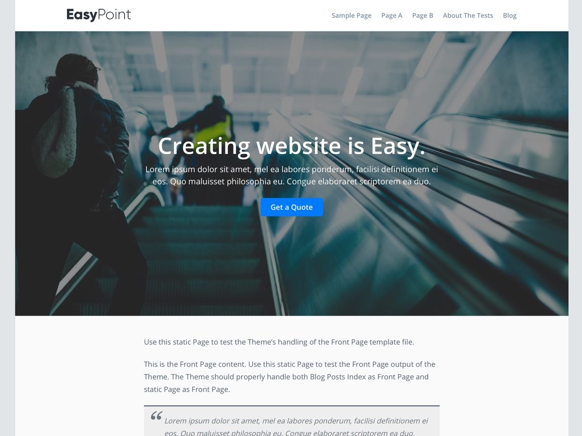 EasyPoint Preview Wordpress Theme - Rating, Reviews, Preview, Demo & Download