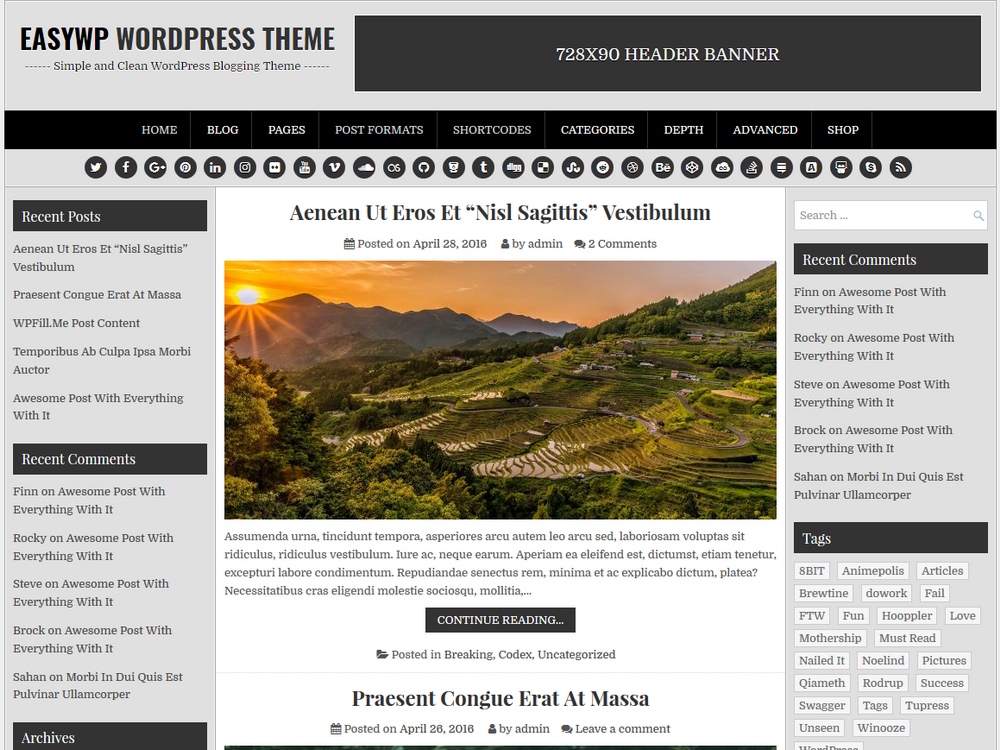 EasyWP Preview Wordpress Theme - Rating, Reviews, Preview, Demo & Download