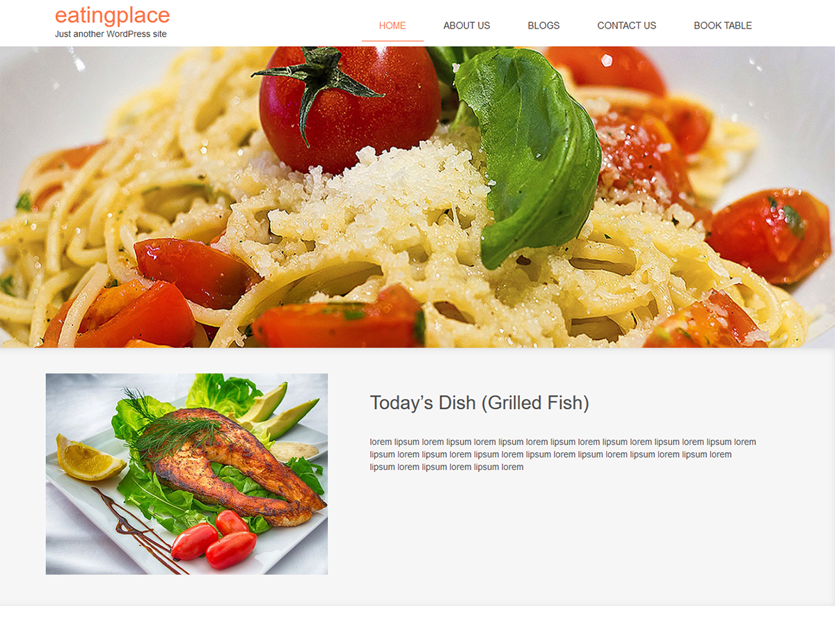 EatingPlace Preview Wordpress Theme - Rating, Reviews, Preview, Demo & Download