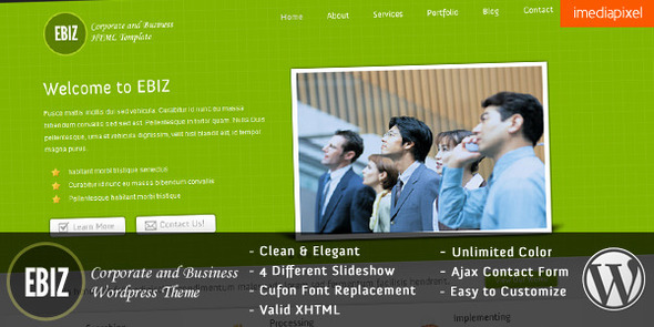 EBIZ Preview Wordpress Theme - Rating, Reviews, Preview, Demo & Download