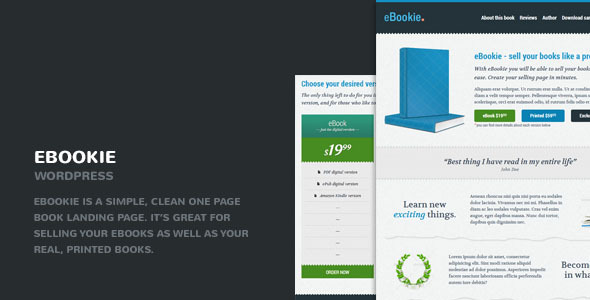 EBookie Preview Wordpress Theme - Rating, Reviews, Preview, Demo & Download