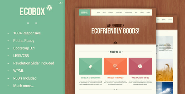 Ecobox Preview Wordpress Theme - Rating, Reviews, Preview, Demo & Download