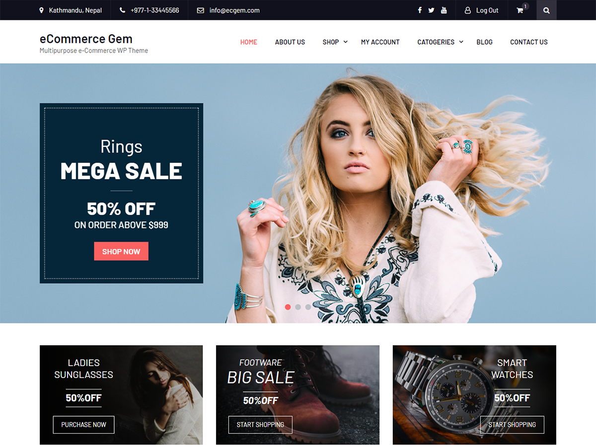 ECommerce Gem Preview Wordpress Theme - Rating, Reviews, Preview, Demo & Download