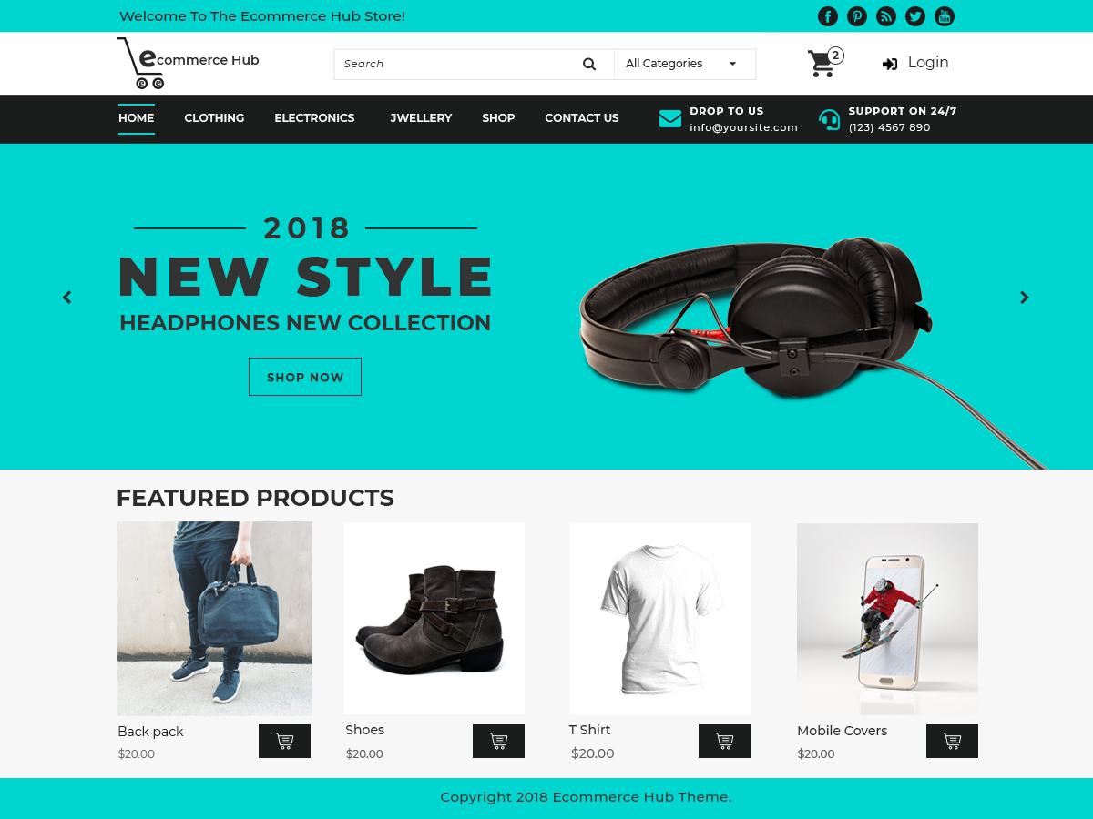 Ecommerce Hub Preview Wordpress Theme - Rating, Reviews, Preview, Demo & Download