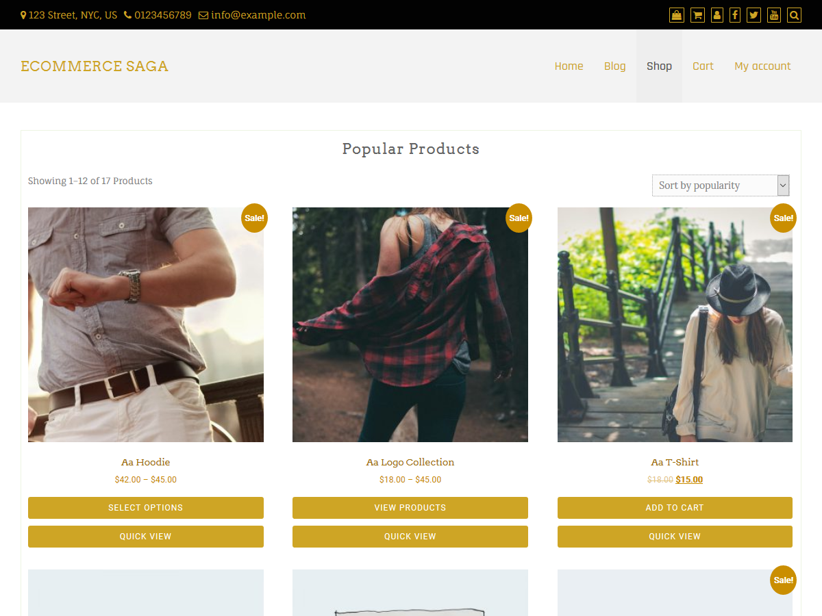 ECommerce Saga Preview Wordpress Theme - Rating, Reviews, Preview, Demo & Download