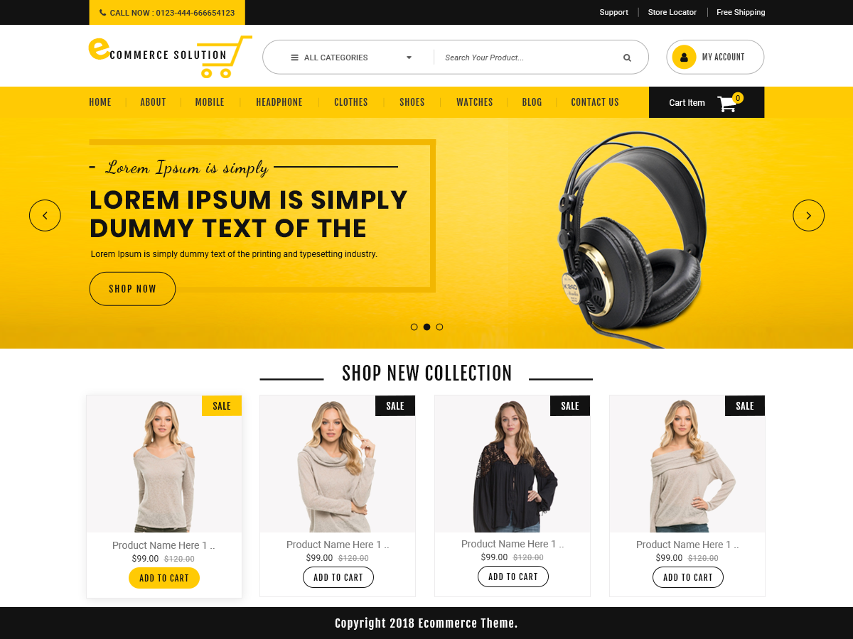 Ecommerce Solution Preview Wordpress Theme - Rating, Reviews, Preview, Demo & Download