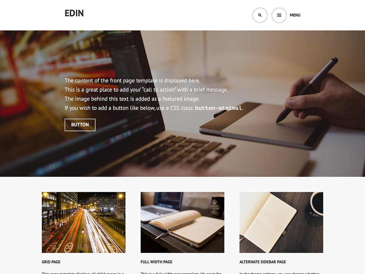 Edin Preview Wordpress Theme - Rating, Reviews, Preview, Demo & Download
