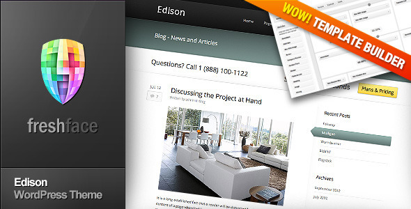 Edison Preview Wordpress Theme - Rating, Reviews, Preview, Demo & Download