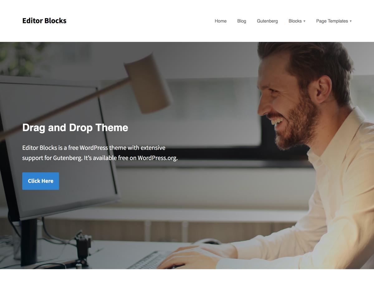 Editor Blocks Preview Wordpress Theme - Rating, Reviews, Preview, Demo & Download