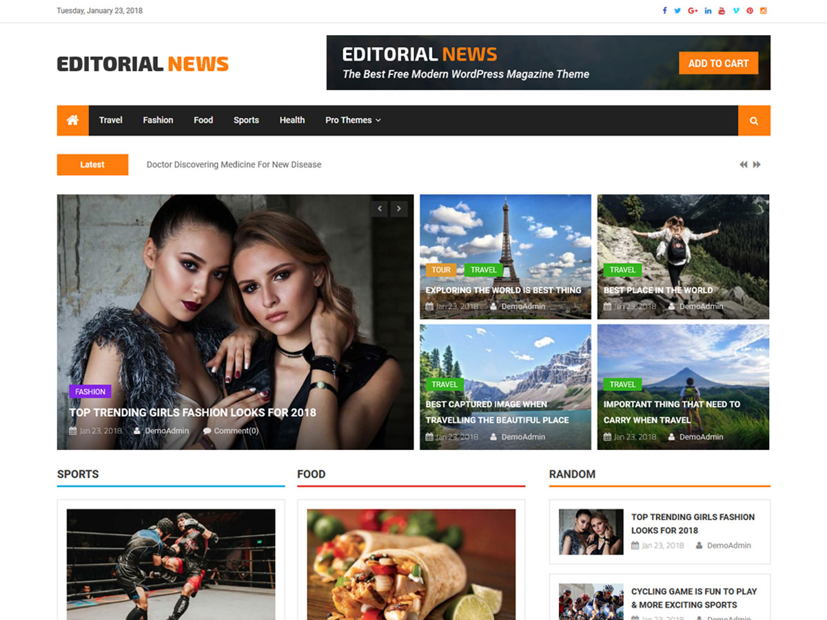 Editorial News Preview Wordpress Theme - Rating, Reviews, Preview, Demo & Download