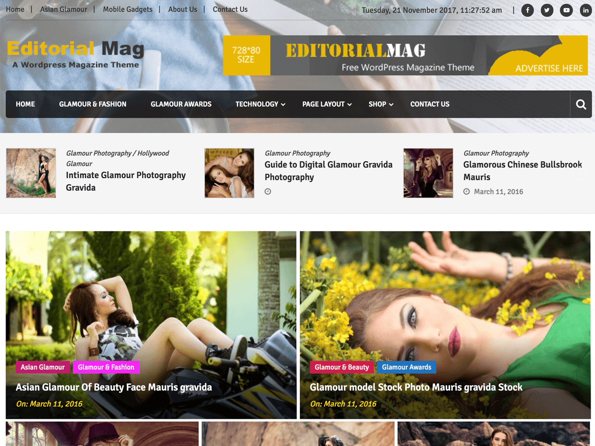 Editorialmag Preview Wordpress Theme - Rating, Reviews, Preview, Demo & Download