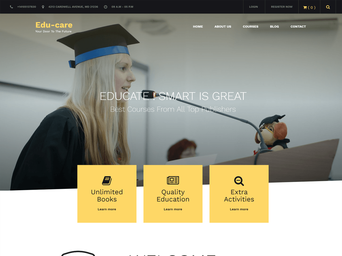 Edu Care Preview Wordpress Theme - Rating, Reviews, Preview, Demo & Download