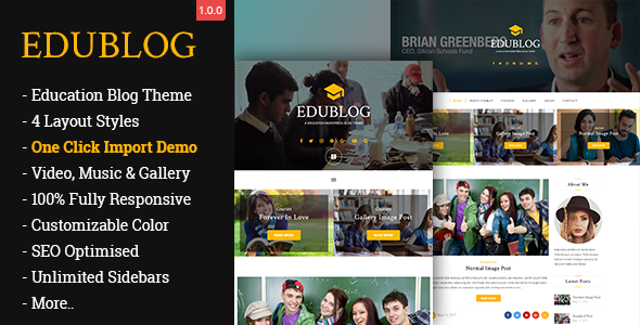 EduBlog Preview Wordpress Theme - Rating, Reviews, Preview, Demo & Download
