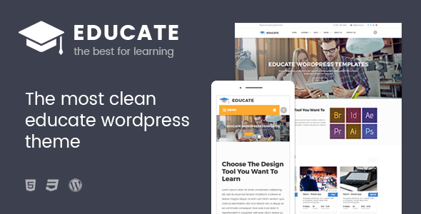 Educate Preview Wordpress Theme - Rating, Reviews, Preview, Demo & Download
