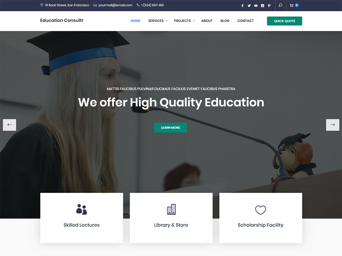 Education Consultr Preview Wordpress Theme - Rating, Reviews, Preview, Demo & Download