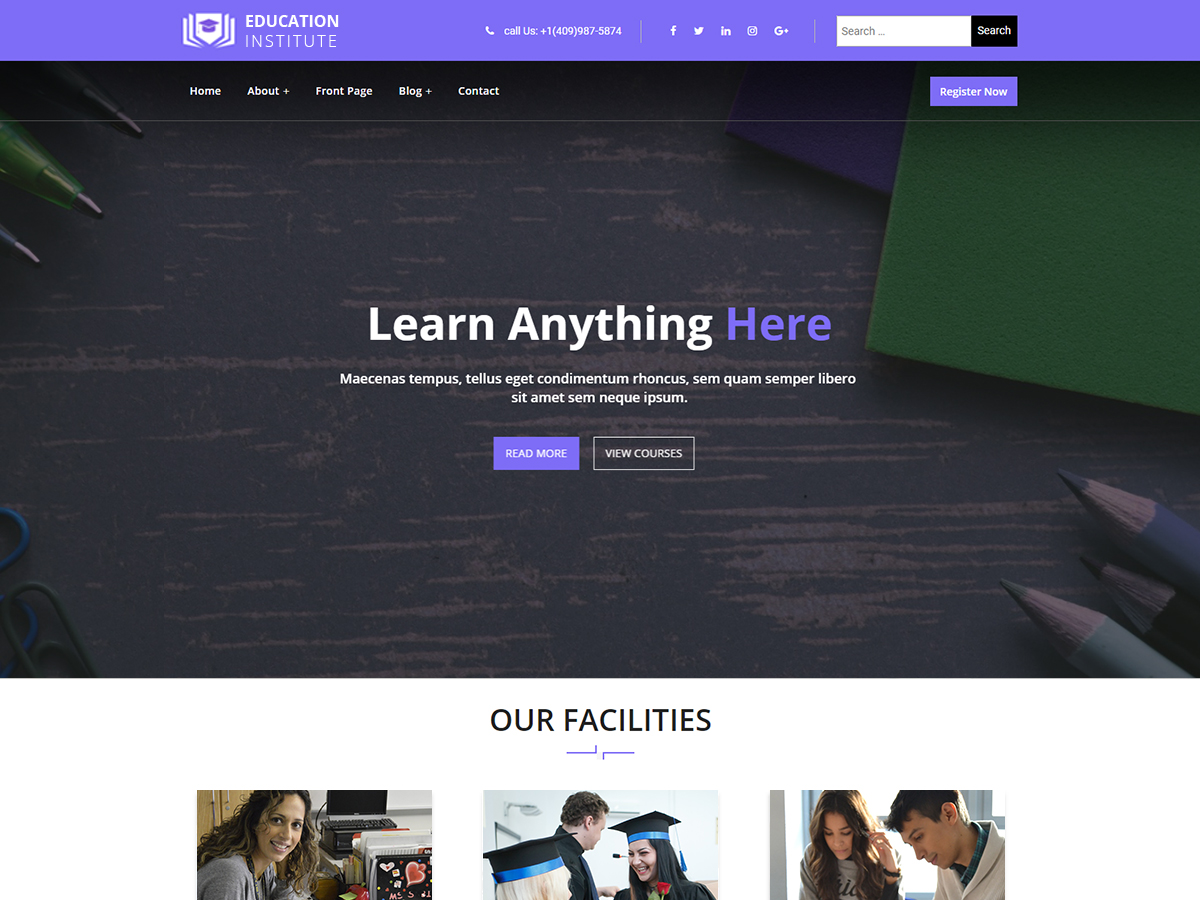 Education Institute Preview Wordpress Theme - Rating, Reviews, Preview, Demo & Download