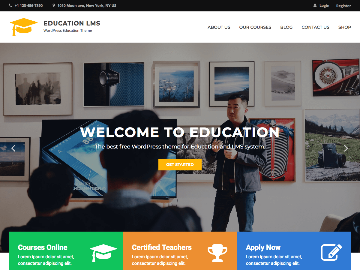 Education LMS Preview Wordpress Theme - Rating, Reviews, Preview, Demo & Download