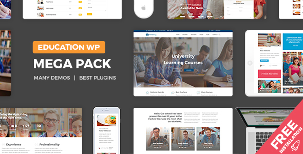 Education Pack Preview Wordpress Theme - Rating, Reviews, Preview, Demo & Download