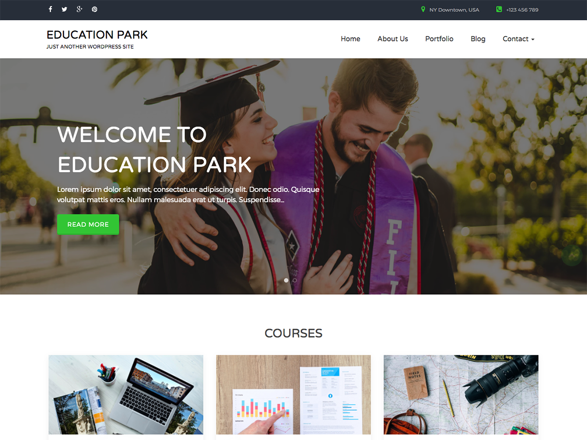 Education Park Preview Wordpress Theme - Rating, Reviews, Preview, Demo & Download